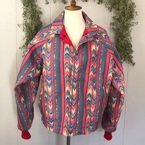 VTG WALLS MOUNTAIN Tribal Aztec Jacket M UNISEX